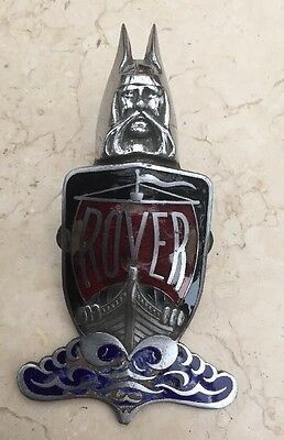 Antique Vintage Rover Viking Bonnet Badge Boss Mascot