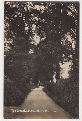 The Green Lane, Rose Hill, Sutton, Surrey RP Postcard B742