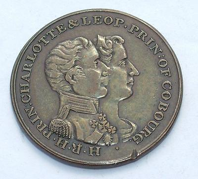 1816 Princess Charlotte & Leopold Prince Of Cobourg Marriage Medal - Lot 180