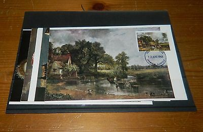 Gb Qeii Maxi Card 1968 Paintings Set Of 4 (Stamps On Picture Side)