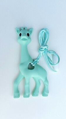 Giraffe silicone teething teether toy baby & mum necklace jewellery UK Mint