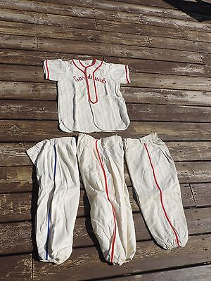 Vintage SUNOCO OIL Baseball Uniform Flannel Youth Cardinal's Emil's Advertising