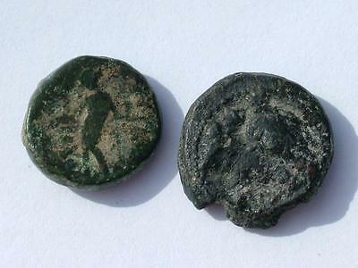 2 x ANCIENT SYRIA COINS ANTIOCHUS III 223 - 187 BC - LOT 16