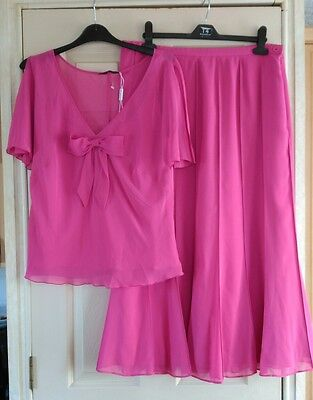 Gina Bacconi Top & Skirt Set , Mother Of The Bride  , Size 18 , Bnwot          ~