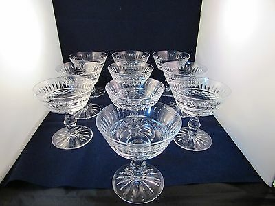 Waterford Crystal Set Of 10 Tramore Champagne Sherbet Glasses