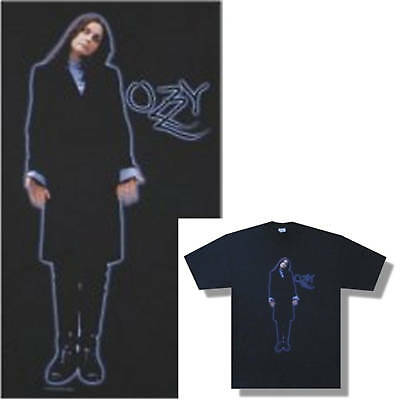 Ozzy Osbourne! Blue Outline Standing Pic Black T-Shirt Large New Sale Bubble