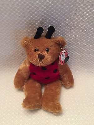 COLLECTIBLE March of Dimes LADY BUG BEAR BEANBAG PLUSH Plushland 2004