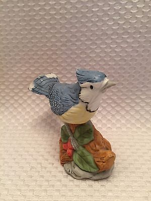 The Whitehall Society Blue/Tan/Green/Red Hand Painted Blue Jay Bird Figurine