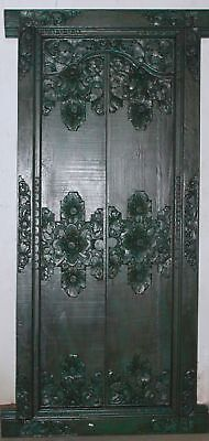 BALINESE Door Hand Carved Wood Bali Architectural Art Home Garden Indonesia gree