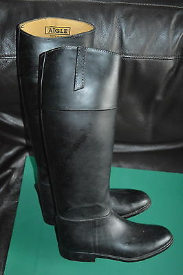 Aigle Riding Boots Rubber & Leather, 6.5, 40