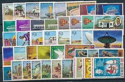 [G106012] Zambia Good lot of Very Fine MNH stamps