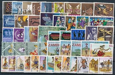 [G106014] Zambia Good lot of Very Fine MNH stamps