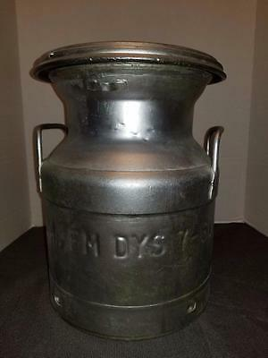 Vintage 1960's Cream Milk Can Steel Farm Dairy Cow