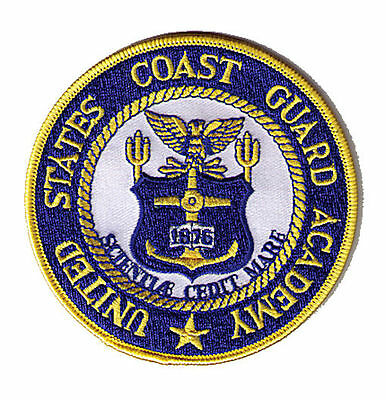 "Academy 4"" yellow New London Connecticut AH778A USCG Coast Guard patch"