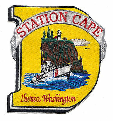 Station Cape Disappointment 44footer sealed AH130C USCG Coast Guard patch