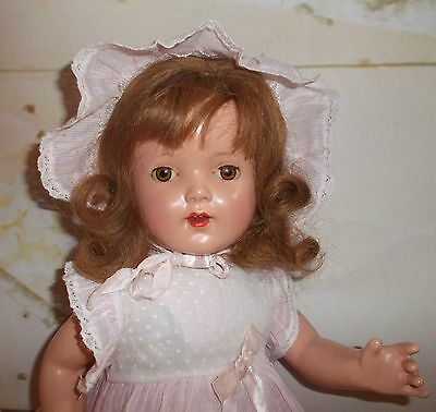 "EFFANBEE Mary Lee 17"" Composition & Cloth marked DOLL no crazing Harder to find"