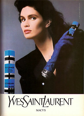 1987 Yves Saint Laurent Rive Gauche Perfume Print Ad Advertisement VTG 80s