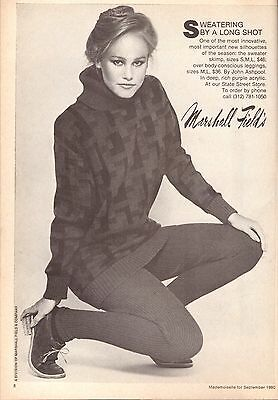 1980 Marshall Field's Department Store Print Ad Advertisement Vintage VTG 80s