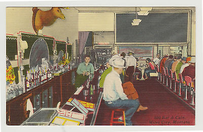 Linen Interior, 600 Bar & Cafe, Miles City MT, c. 1950 Montana