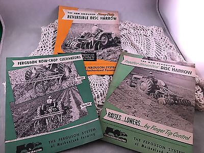Set Of 3 Antique/vintage Ferguson Farm Equipment Brochures From P'pool's Tractor