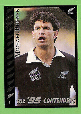 1995 New Zealand  All Blacks Rugby Union Card  #4  Michael  Brewer