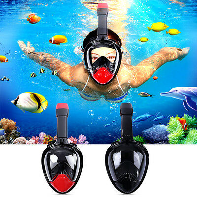 V2.0 2017 Full Face Snorkel Mask 180° View Scuba Snorkeling Diving Anti-Fog L