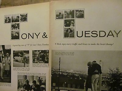 Anthony Perkins, Tony, Two Page Vintage Clipping, Tuesday Weld