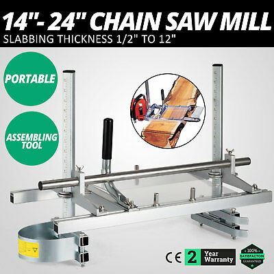 """14"""" - 24"""" Chain Saw Mill Planking Lumber Cutting Portable Saw Mill HIGH GRADE"""