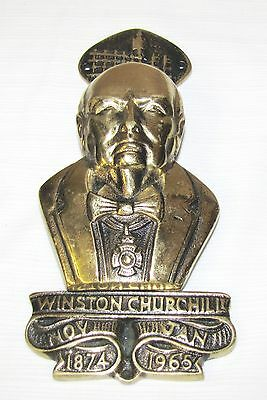 Winston Churchill--Commemorative Brass Door Knocker--Ww2 British Prime Minister