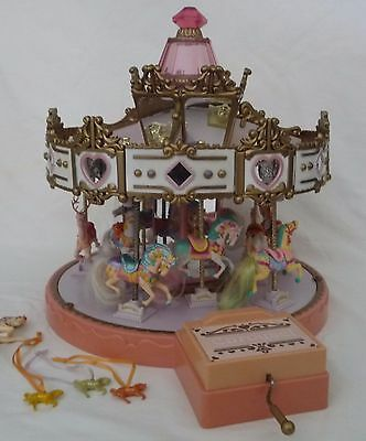 Vintage Matchbox Musical Carousel 1989 with 11 horses