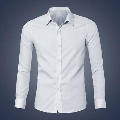 Mens Luxury Stylish Casual Dress Slim Fit T-Shirts Casual Long Sleeve SHIRT