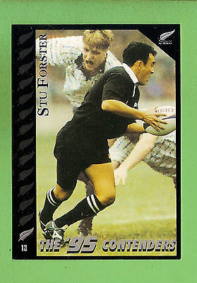 1995 New Zealand  All Blacks Rugby Union Card  #13 Stu Forster