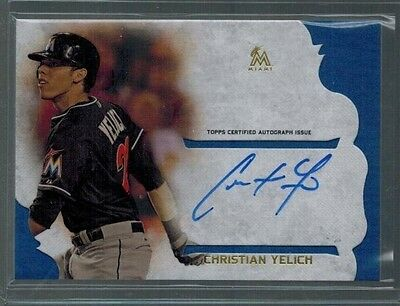 2015 Topps Supreme Christian Yelich Auto Simply Autograph On Card