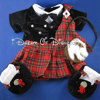 Build-A-Bear Scottish Highlander International Teddy Costume Clothes Complete