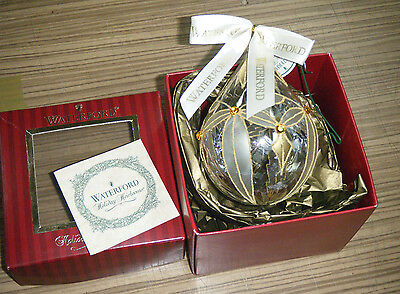 Boxed Waterford Crystal Holiday Heirlooms Christmas Tree Decoration