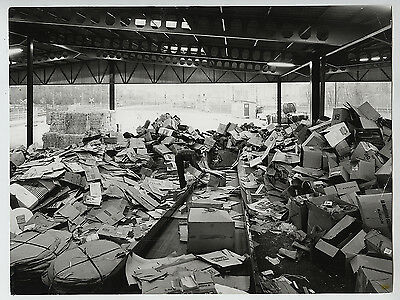 Lennart Olson VINTAGE STAMPED Recycling Center Press Photo