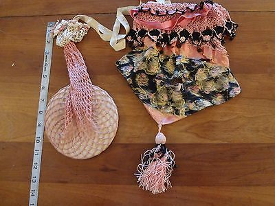 antique vintage beaded crochet purse sack bag lot as is parts upcycle only