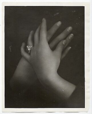 Mary Dale Clarke VTG 1929 STAMPED Study of Hands/Proctor & Gamble Prize Photo