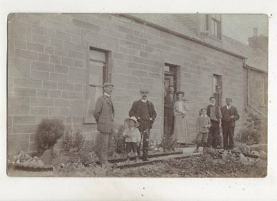Social History Family Outside House 1906 RP Postcard Postmarked Blairgowrie 643b