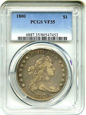 1800 $1 PCGS VF35 - Popular Bust Dollar Millennial Issue - Bust Silver Dollar