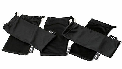 Oakley Sunglass Black Soft MicroFiber Bag Set of 5 - Standard Size Cleaning Case