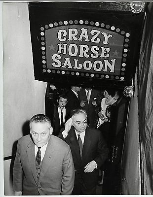 Raymond Depardon VINTAGE STAMPED Men Leaving Crazy Horse Saloon Press Photo