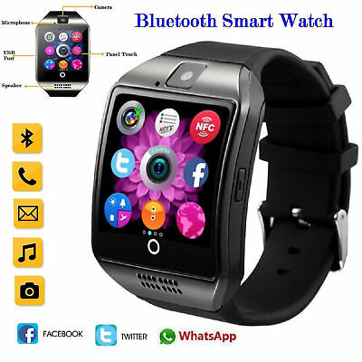Q18 Bluetooth Smart Watch Clock Support SIM Card For iPhone Android Samsung