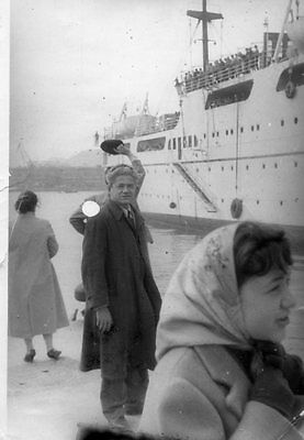 Greece A Good Bye From The Dock Upon Departure Of The Ship. Circa 1955