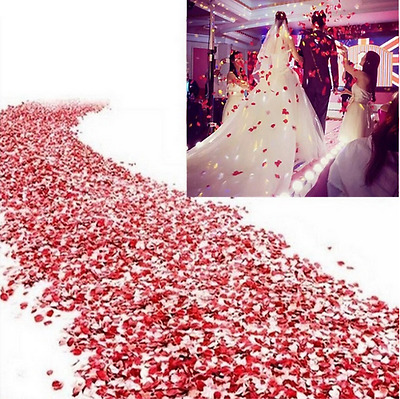 100 Pcs Heart Shape Padded Fabric Throwing Petals Love Table Wedding Party Decor