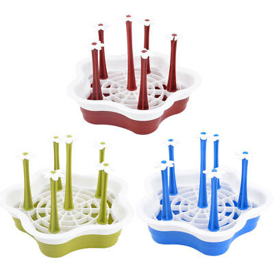 Household Kitchen Plastic Round Detachable Bottle Glass Cup Drying Tray Holder