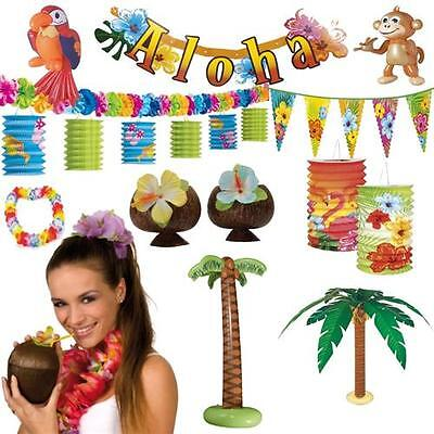 HAWAII DEKO PARTY RIESENAUSWAHL Strandparty Motto Strand Beach Set