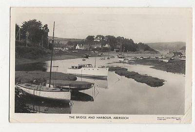 The Bridge & Harbour Abersoch 1961 RP Postcard 049a