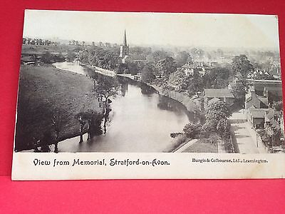 1904 Postcard, View From Memorial, Stratford-On-Avon