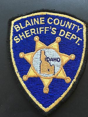 Blaine County Idaho Sheriff Shoulder Patch   Old